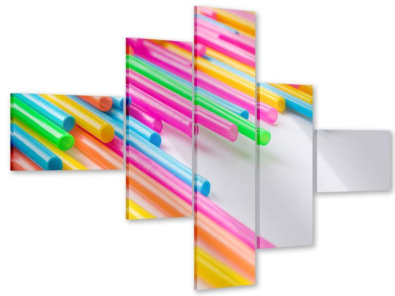 Acrylglasbild 5-teilig modern Pop Art