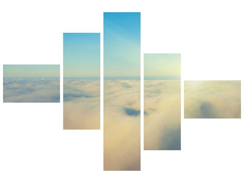 Acrylglasbild 5-teilig modern Dämmerung über den Wolken