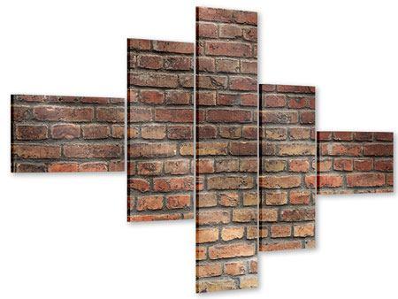 Acrylglasbild 5-teilig modern Brick Wall