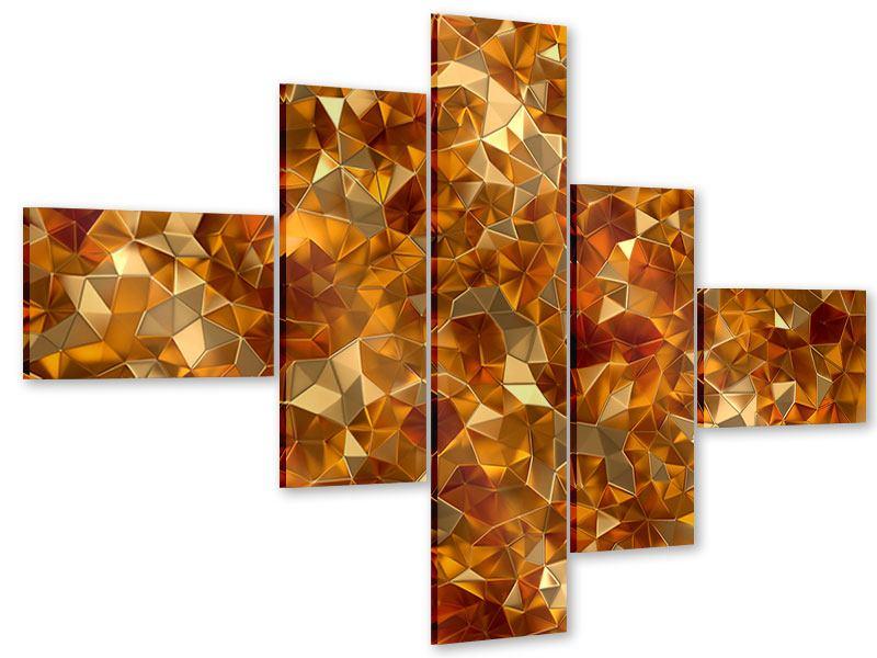 Acrylglasbild 5-teilig modern 3D-Bernsteine