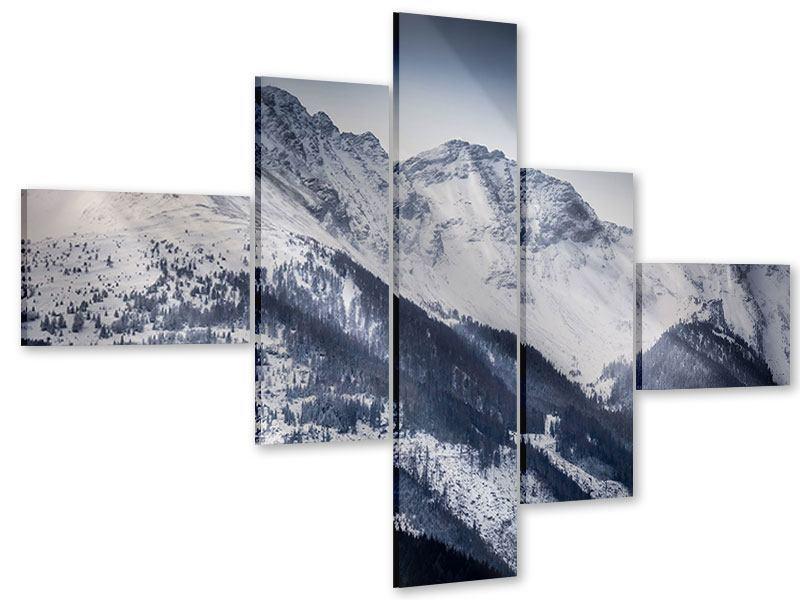 Acrylglasbild 5-teilig modern Die Berge der Schweiz