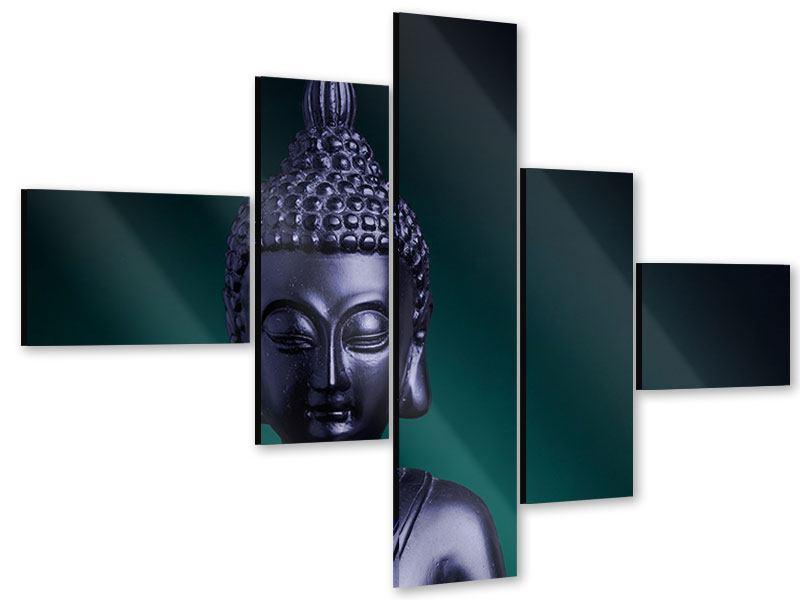 Acrylglasbild 5-teilig modern Die Weisheit des Buddhas