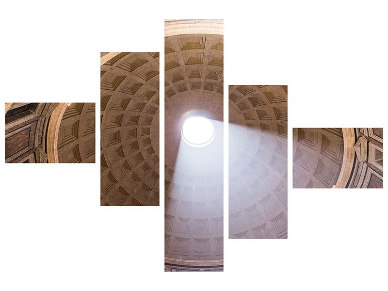 Acrylglasbild 5-teilig modern Petersdom
