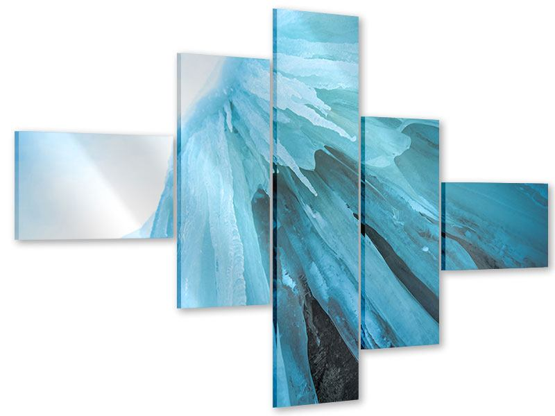 Acrylglasbild 5-teilig modern Die Eiswand