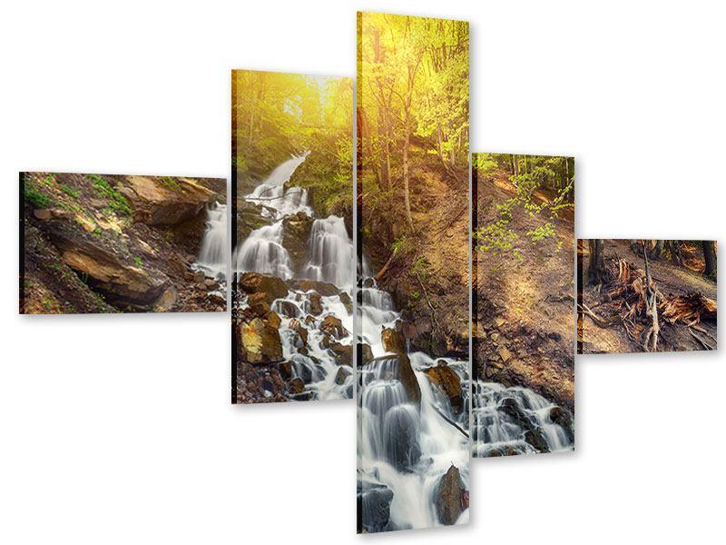 Acrylglasbild 5-teilig modern Naturschönheit