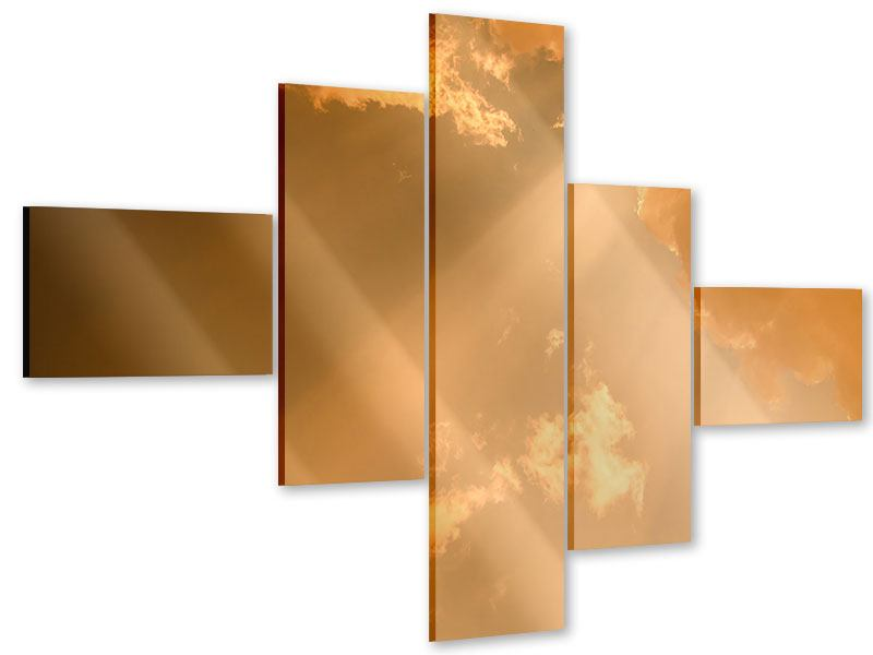 Acrylglasbild 5-teilig modern Abendhimmel