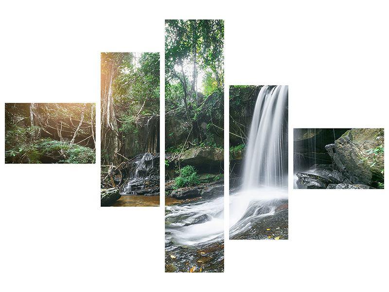 Acrylglasbild 5-teilig modern Naturschauspiel