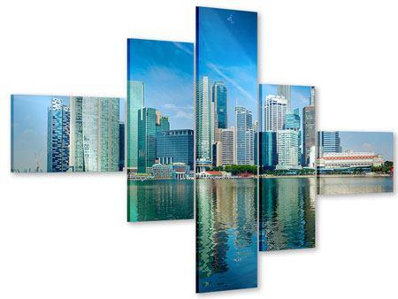 Acrylglasbild 5-teilig modern Skyline Mexiko-Stadt