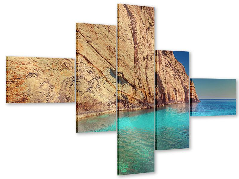 Acrylglasbild 5-teilig modern Wasser
