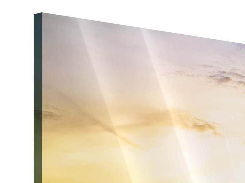 Acrylglasbild 5-teilig modern Skyline Big Ben im Sonnenuntergang