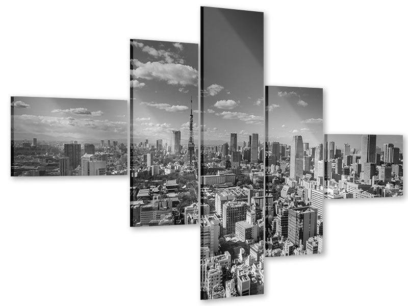 Acrylglasbild 5-teilig modern Tokio