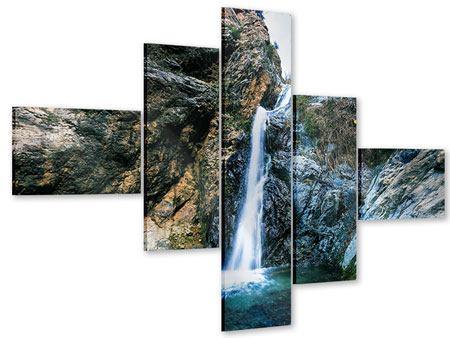 Acrylglasbild 5-teilig modern Bewegtes Wasser