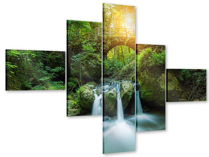 Acrylglasbild 5-teilig modern Wasserspiegelungen