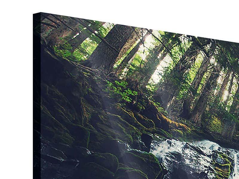 Acrylglasbild 5-teilig modern Feng Shui & Wasserfall