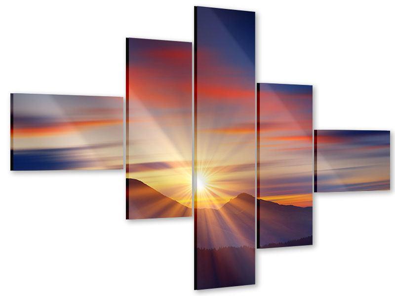 Acrylglasbild 5-teilig modern Märchenhafte Landschaft
