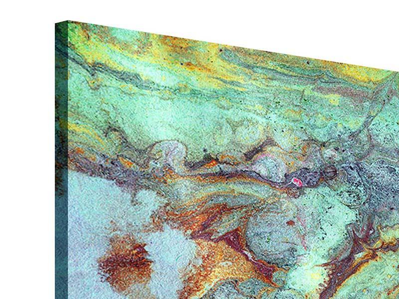 Acrylglasbild 5-teilig modern Marmor in Grün