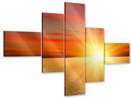 Acrylglasbild 5-teilig modern Der Sonnenuntergang