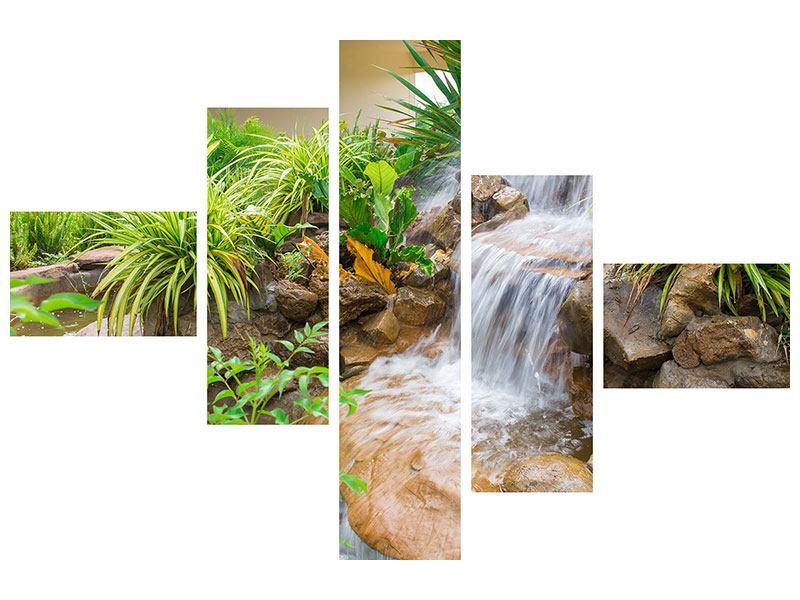 Acrylglasbild 5-teilig modern Paradiesgarten