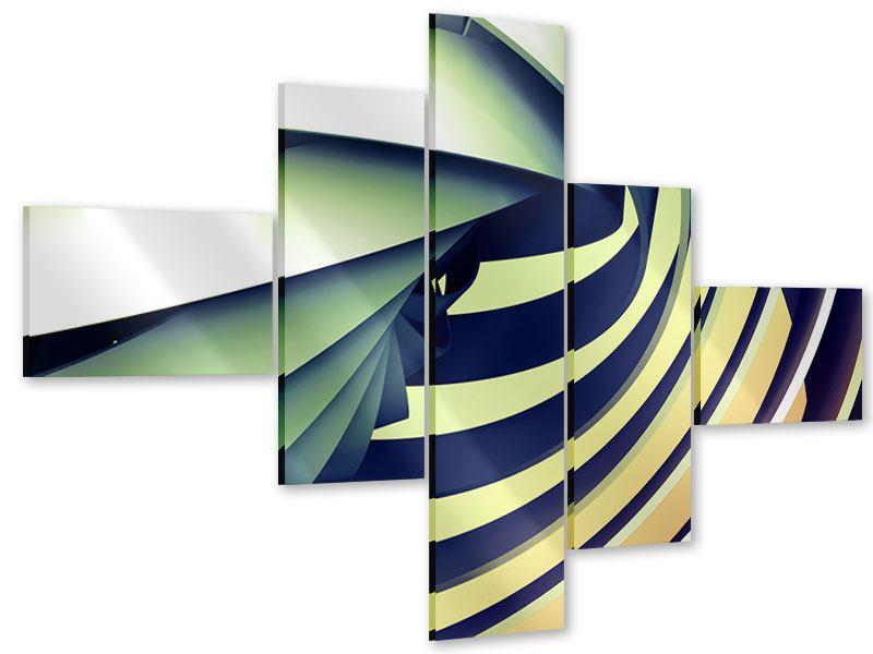 Acrylglasbild 5-teilig modern Abstrakte Perspektiven