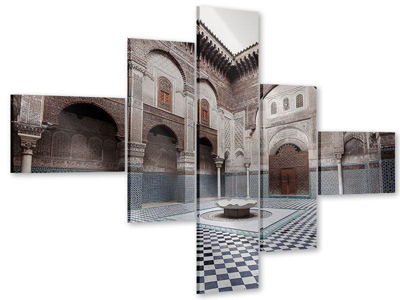 Acrylglasbild 5-teilig modern Orientalischer Hinterhof