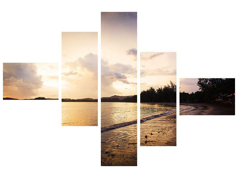 Acrylglasbild 5-teilig modern Das Ufer