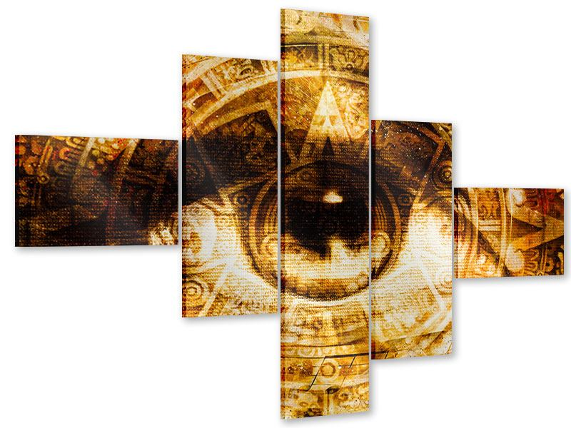 Acrylglasbild 5-teilig modern Fraktales Auge