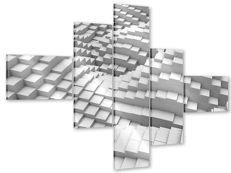 Acrylglasbild 5-teilig modern 3D-Elemente