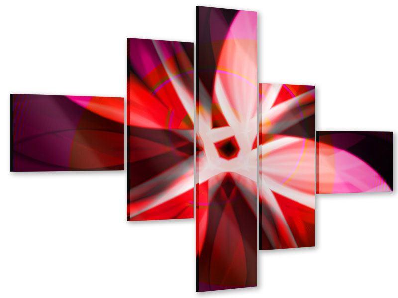 Acrylglasbild 5-teilig modern Abstrakt Flower Power