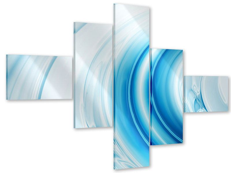 Acrylglasbild 5-teilig modern Abstraktes Glas