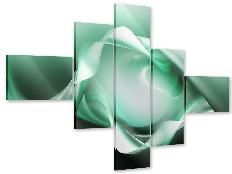 Acrylglasbild 5-teilig modern Abstrakt Tuchfühlung