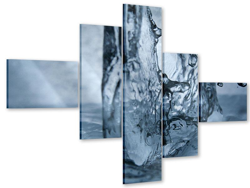 Acrylglasbild 5-teilig modern Wasserdynamik