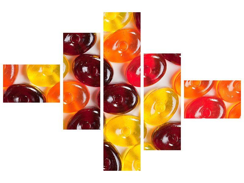 Acrylglasbild 5-teilig modern Bonbons