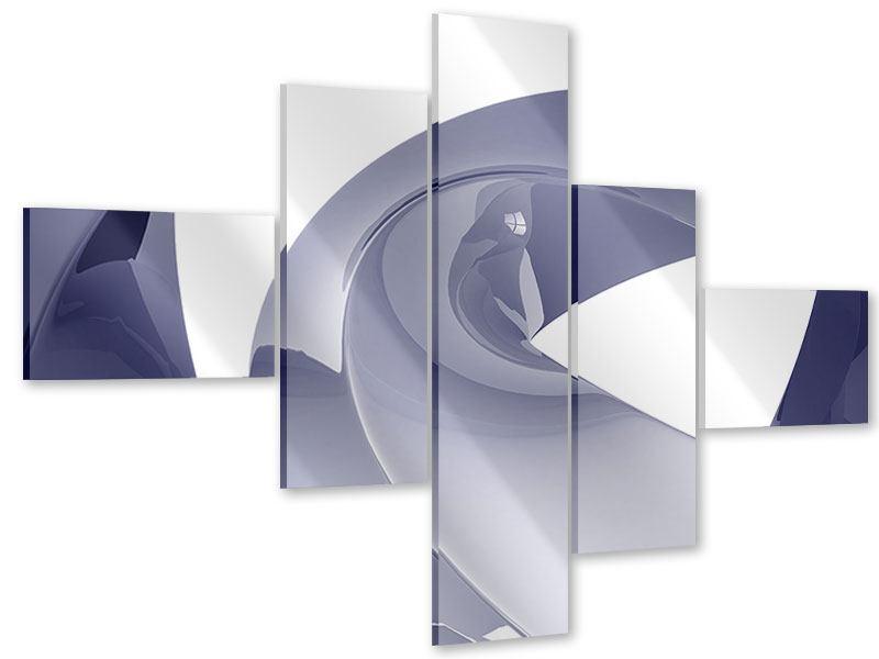 Acrylglasbild 5-teilig modern Abstrakte Schwingungen