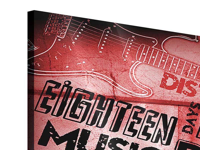 Acrylglasbild 5-teilig modern Writings Music Grunge