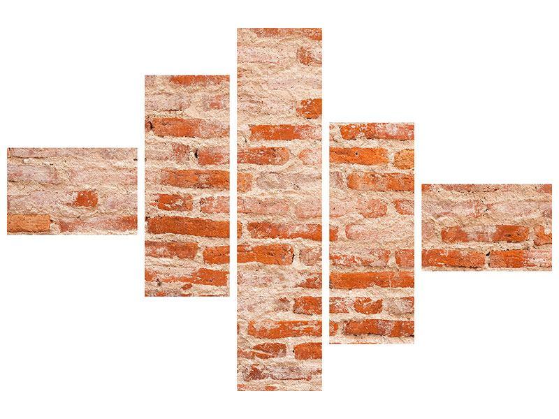 Acrylglasbild 5-teilig modern Mauerwerk