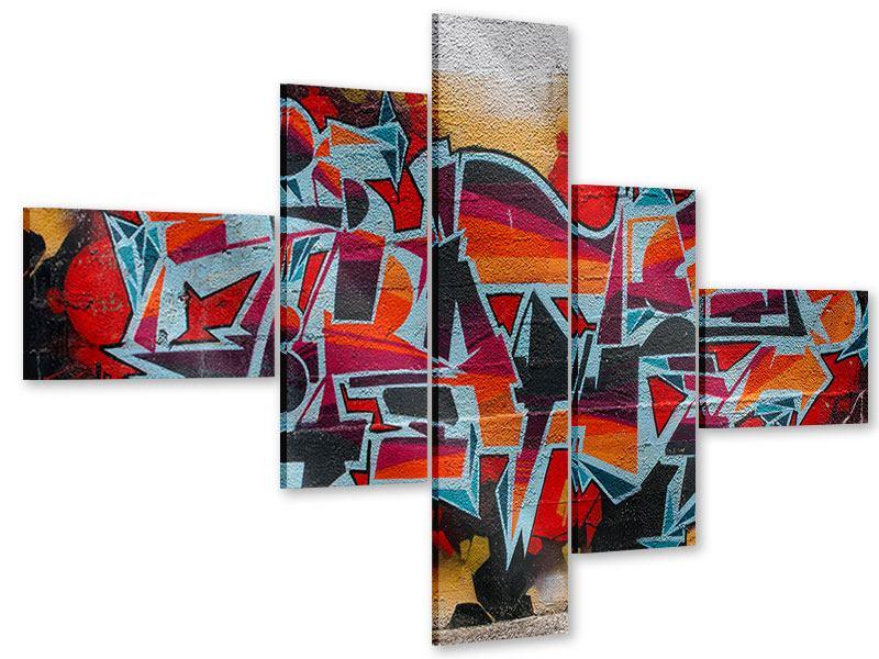 Acrylglasbild 5-teilig modern New York Graffiti