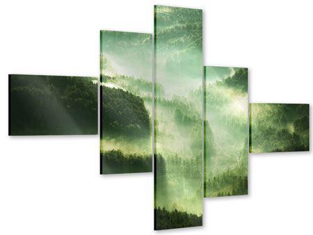 Acrylglasbild 5-teilig modern Über den Wäldern