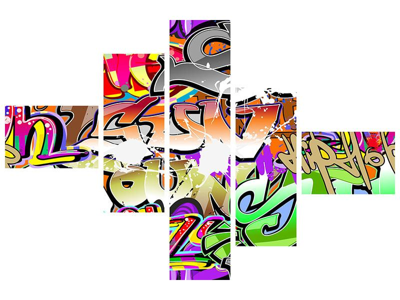 Acrylglasbild 5-teilig modern Writings