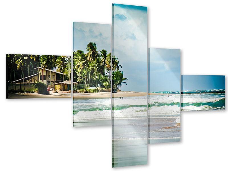 Acrylglasbild 5-teilig modern The Beach