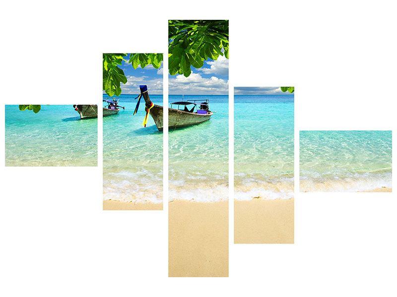 Acrylglasbild 5-teilig modern Ein Blick auf das Meer