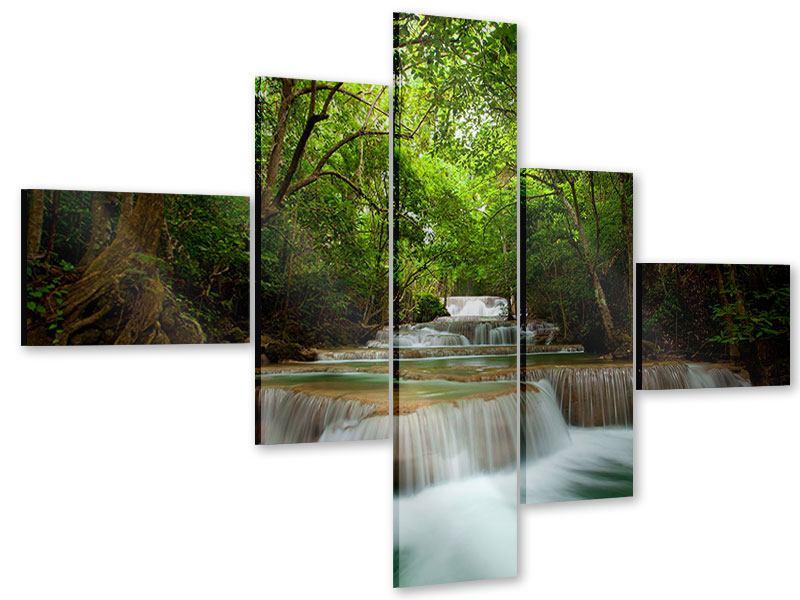 Acrylglasbild 5-teilig modern Die 7 Stufen