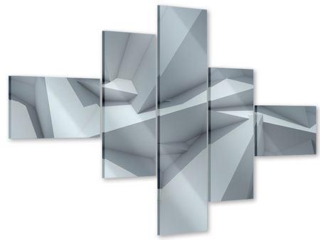 Acrylglasbild 5-teilig modern 3D-Kristallo
