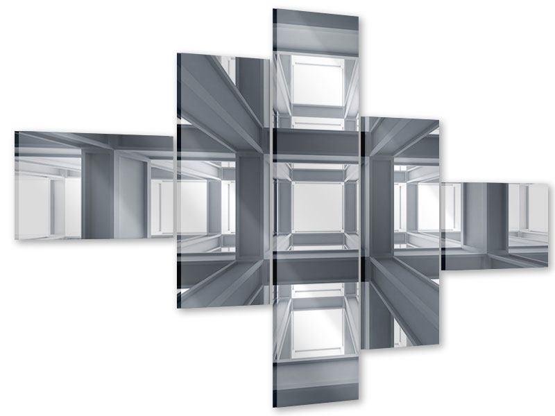 Acrylglasbild 5-teilig modern Räume