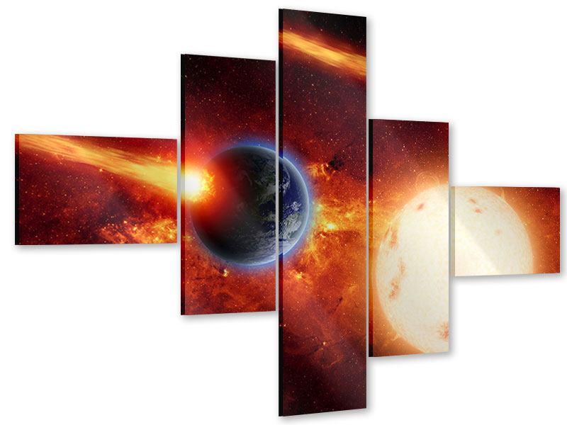 Acrylglasbild 5-teilig modern Der Kosmos