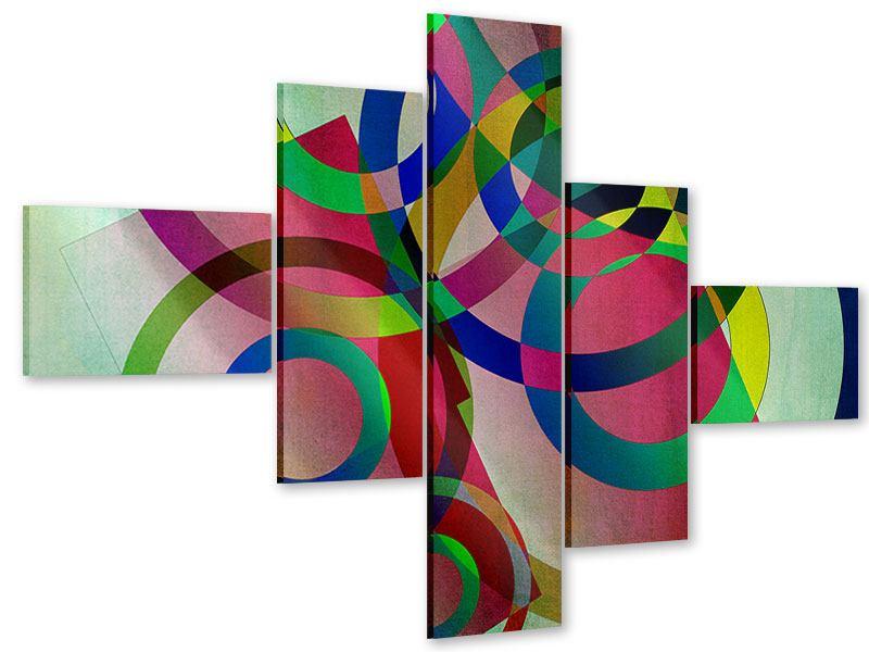 Acrylglasbild 5-teilig modern Wandkunst