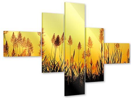 Acrylglasbild 5-teilig modern Die Blumen des Feldes