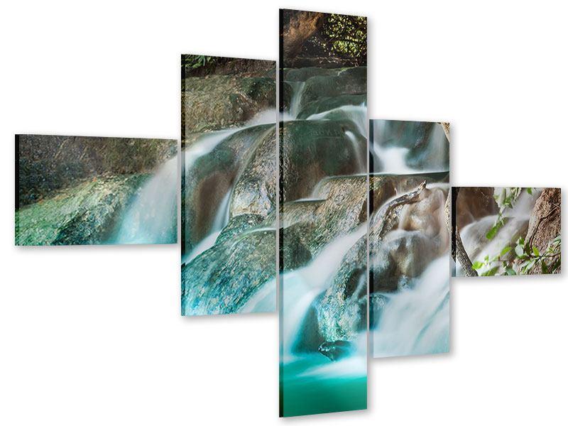 Acrylglasbild 5-teilig modern Am Fluss des Lebens