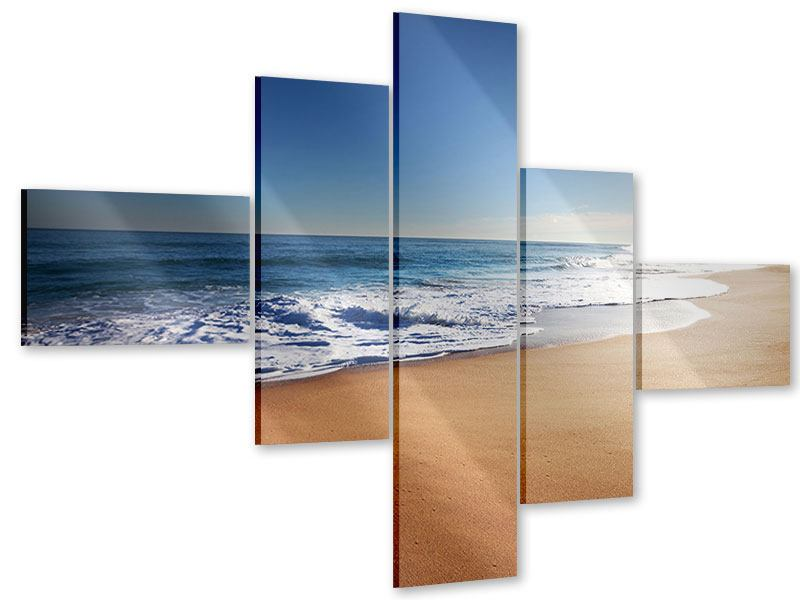 Acrylglasbild 5-teilig modern Privatstrand