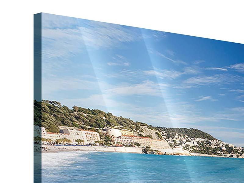 Acrylglasbild 5-teilig modern Cote D`Azur