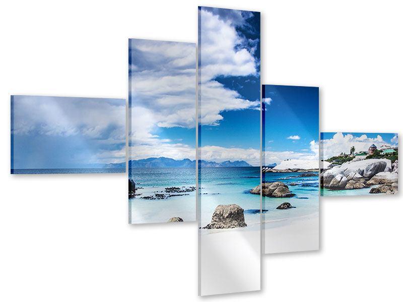 Acrylglasbild 5-teilig modern Inselfeeling